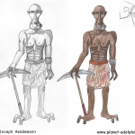 Bergarbeiter aus Motazaar - Konzept